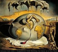 Salvador Dali, Enfant géopolitique observant la naissance de l'Homme nouveau, 1943, huile sur toile, 46 x 52 cm