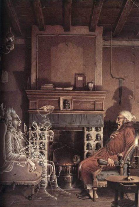 Illustration de Roberto Innocenti pour A Christmas Carol (Un Chant de Noël) de Charles Dickens.