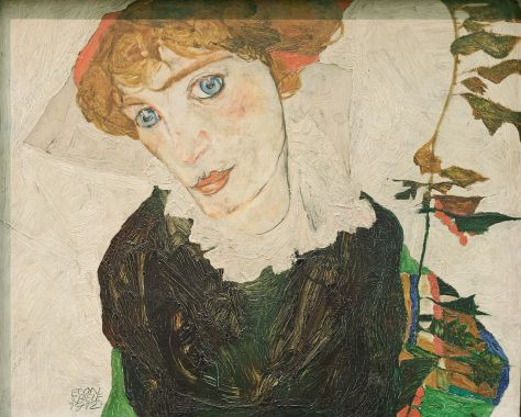 Egon Schiele, Portrait de Wally Neuzil, huile sur panneau de bois, 1912, Leopold Museum, Vienne.