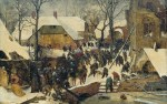 Pieter Bruegel l'Ancien, L'Adoration des Mages dans un paysage de neige (ou dans un paysage d'hiver), Huile sur bois, 35 x 55 cm, 1563, Am Römerholz, Suisse.