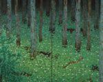 Katayama Bokuyo, Mori (Forêt), Encre sur soie, 1928, 189,23 x 237,49 cm, Minneapolis Institute of Art (Etats-Unis).