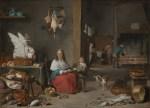David Teniers le Jeune, Cuisine, Huile sur cuivre, 77,8 x 75 cm, 1644, Mauritshuis, Pays-Bas.