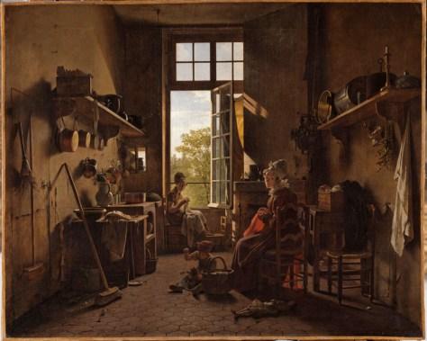 Martin Drölling, L'Intérieur d'une cuisine, Huile sur toile, 65 x 80 cm, 1817, Musée du Louvre, Paris.