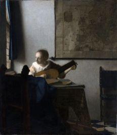 Johannes Vermeer, La femme au luth, Huile sur toile, 51 × 46 cm, 1662-1665, Metropolitan Museum of Art, New York.