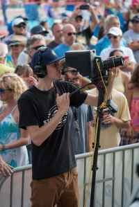 Summer Concerts crew shot 1 through camera