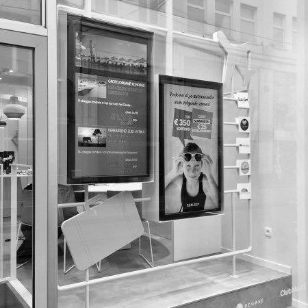 shop window concept & communication tools neckermann • for Art Nivo
