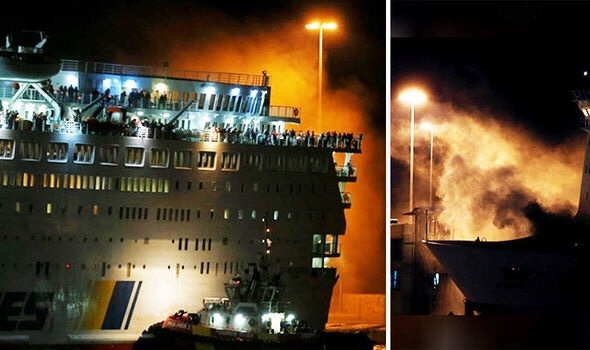 #FIRE on #ANEK 'S FERRY #ELEFTHERIOS #VENIZELOS