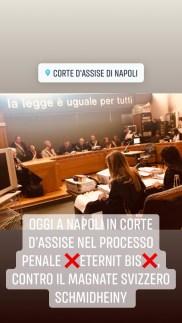 """Processo """"Eternit bis"""" a Napoli"""
