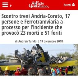 Processo treni Puglia
