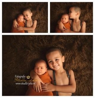 newbornfotoshoot met broer
