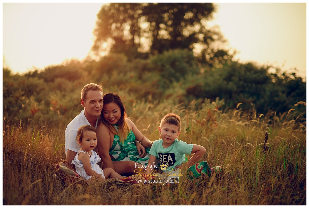 gezinsfotosessie buiten