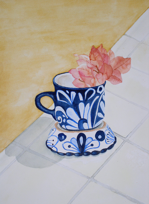Mexican Cup Watercolor Painting