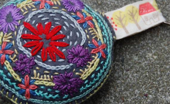 doodle stitch bloemetjes borduren