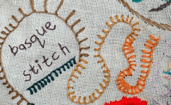embroidery stitches basque stitch borduursteken basque stitch