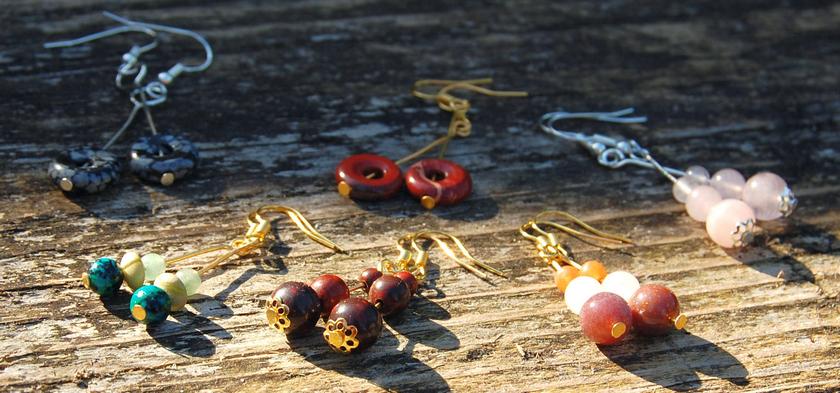 oorbellen edelsteen gemstone earrings