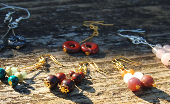 oorbellen edelsteen gemstone earrings