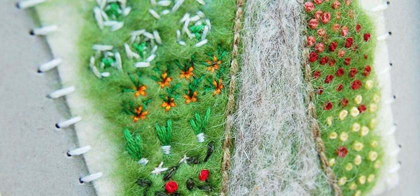 fiber arts embroidery felting