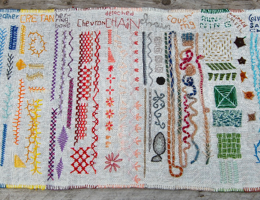 learning embroidery stitches borduursteken zelf leren