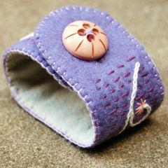 sieraad wol lavendel kopen Studio Paars paars lila cuff armband bracelet purple lavendar lilac