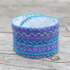 sieraad wol lila kopen Studio Paars Lavendel aqua cuff armband lavendar bracelet