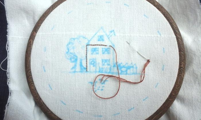 studio-paars-borduurring-huisje-boompje-beestje-stap-1