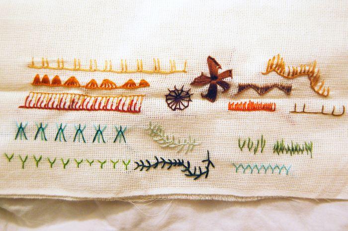 Festonsteek (Buttonhole Stitch) door studio paars