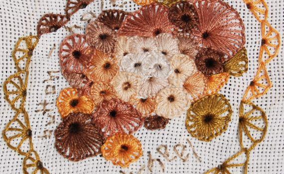 Ring van Festonsteken (Buttonhole Wheel) door studio paars