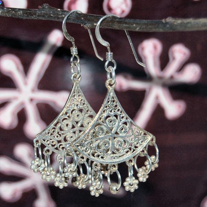 sterling zilveren oorbellen maken  door studio paars
