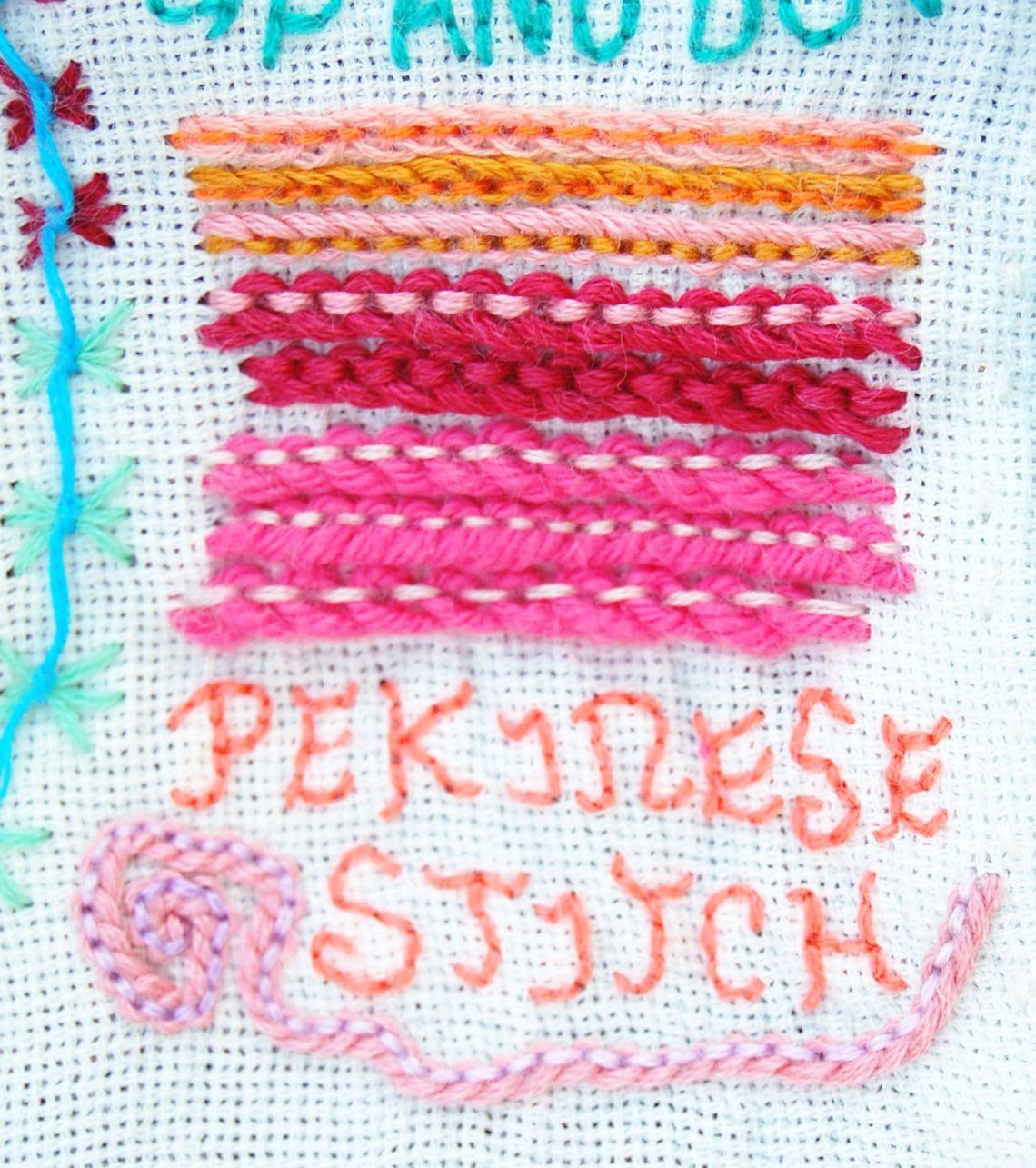 Pekinesesteek (Pekinese Stitch) door studio paars