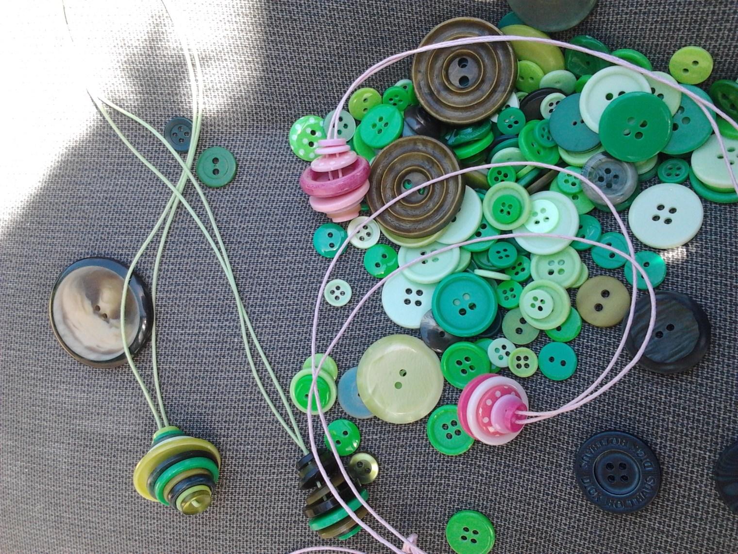 Knopenketting maken door studio paars