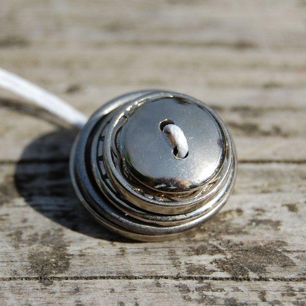 knopenketting #07 zilver door studio paars
