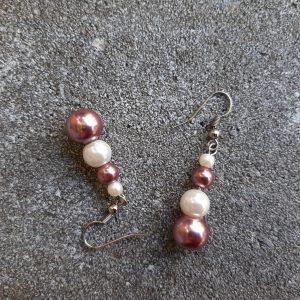oorbellen glasparels mokka door studio paars