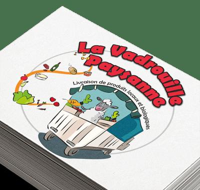 Logo de La Vadrouille Paysanne - illustration : Anaëlle Humeau