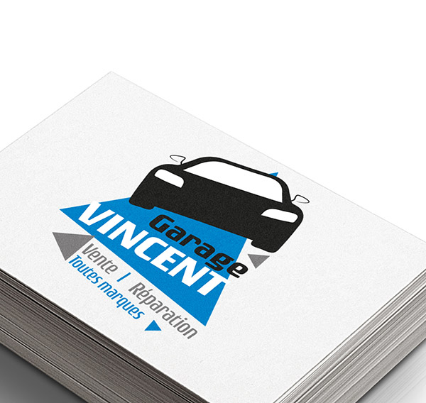 création logo, Le Pin en Mauges, Garage Vincent, Maine et loire, graphiste, studio paruline