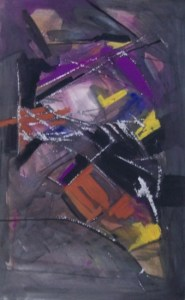 Frank Fidler (1910 - 1995) Framed mixed media on paper with scratching c 1962. Signed. Dimensions of the image: 57.0 by 36.0 cm (22.4 by 14.2 inches). Price: £350