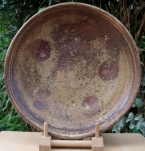 Patrick Sargent wood-fired charger with shell marks