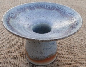 Eric James Mellon flared vessel, signed and dated 1968. The height is 8.4 cm (3.3 inches) and the maximum diameter is 12.2 cm (4.8 inches). Price: £100
