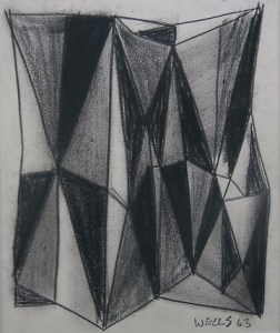 Donald Wells (1929 -2014) Charcoal sketch on paper (unframed). Dimensions of the image: 21.9 cm (8.6 inches) by 18.1 cm (7.1 inches). Price £125