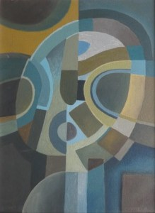 Colin Fifield (b. 1940) - Trained at the Slade School & Camberwell. Cubist Head - oil on canvas with wooden frame. Dimensions of the canvas: 30.5 by 23.0 cm (12.0 by 9.0 inches). Price; £150