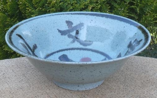Poh Chap Yeap - large stoneware brush decorated bowl