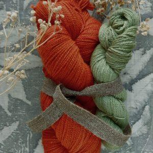 natural dye yarn sock set