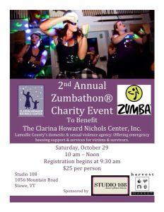 2nd Annual Zumbathon Stowe Vermont