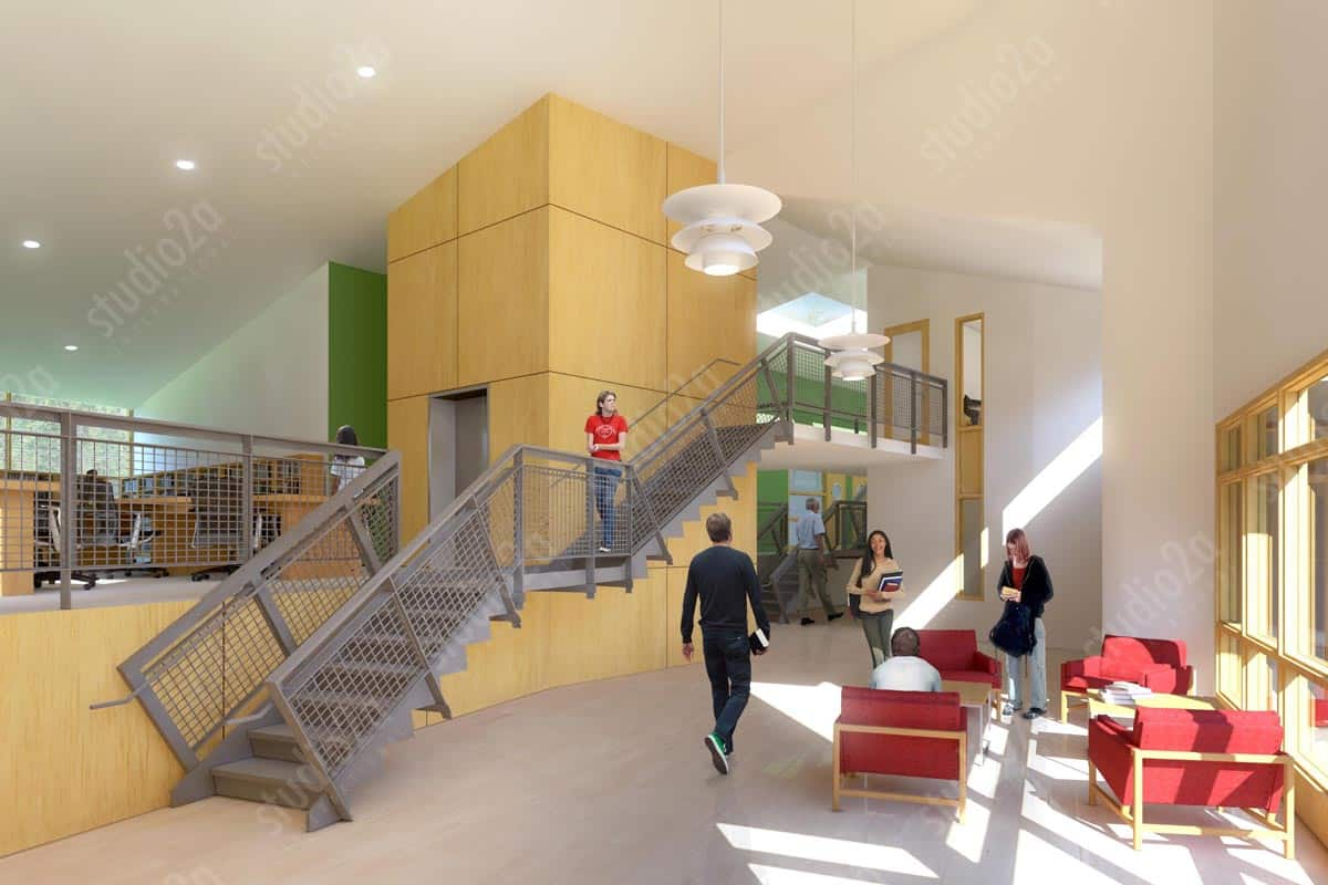 3D Interior Renderings Education STORM KING SCHOOL