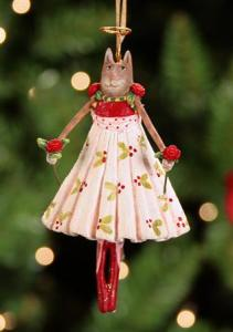 cat patience brewster ornament