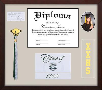 custom framed diploma - studio 3