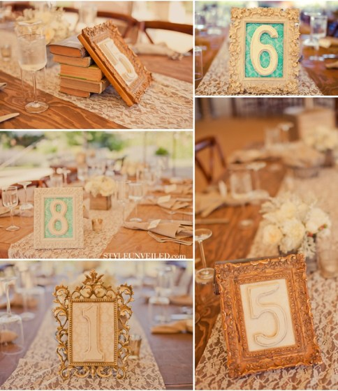 custom framed table numbers // Studio 3 Custom Framing
