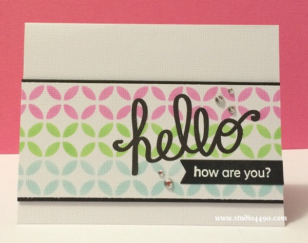 Hello, How are you? Materials used:  Stamps - A Little Sentimental (Clearly Besotted), Cherry Blossom (KaiserCraft); Cardstock - American Crafts; Dies - Stained Glass (KaiserCraft), Project Life (Becky Higgins); Rhinestones (KaiserCrafts); and Hero Arts Shadow Inks  (Hero Arts).