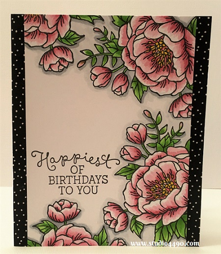 Happiest of Birthdays to You Materials used: Stamps - Birthday Blooms (Stampin' Up!); Washi Tape - It's My Party Designer Washi Tape (Stampin' Up!), and Copic Markers.