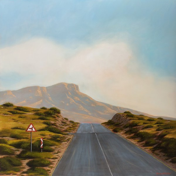 Coming Home (731) by Donna Mckellar, oil on canvas, 120cm by 120cm, (2015)