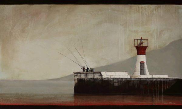 Kalk Bay Lighthouse (528) by Donna McKellar, artist print on canvas.